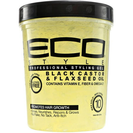 ECO Styler Black Castor & Flaxseed Oil Gel 32 oz