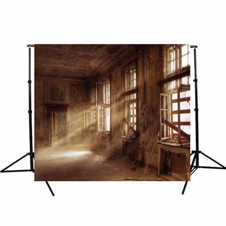 5ft X 7ft Vinyl Photography Background Screen Backdrop Retro Ruins Factory Cameras For Studio photography backdrops Photo Prop - image 1 de 4