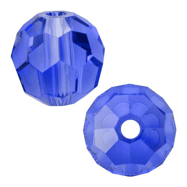 Swarovski Crystal, #5000 Round Beads 4mm, 12 Pieces, Sapphire
