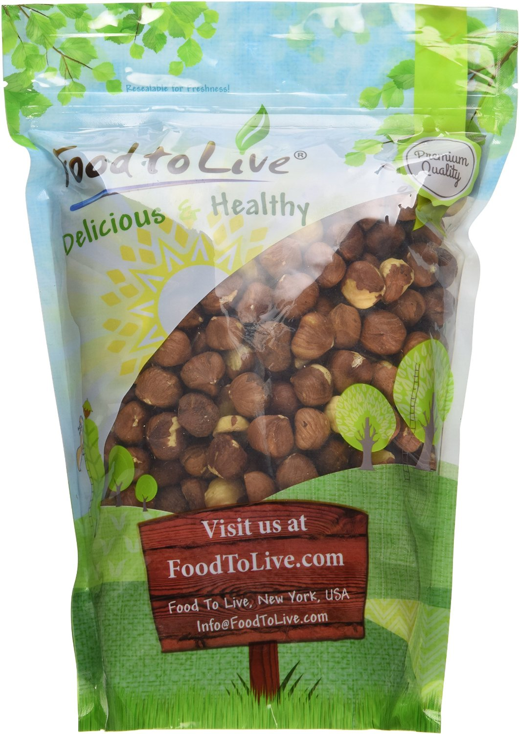 Food To Live Hazelnuts   Filberts (Raw, No Shell) (2 Pounds) by Food To Live