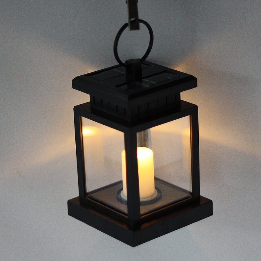 Candle Lantern - Great for Patio, Indoors/Outdoors, Events, Parties and Weddings Outdoor Candle Lantern Solar Powered Light Garden Yard Wall Landscape Lamp