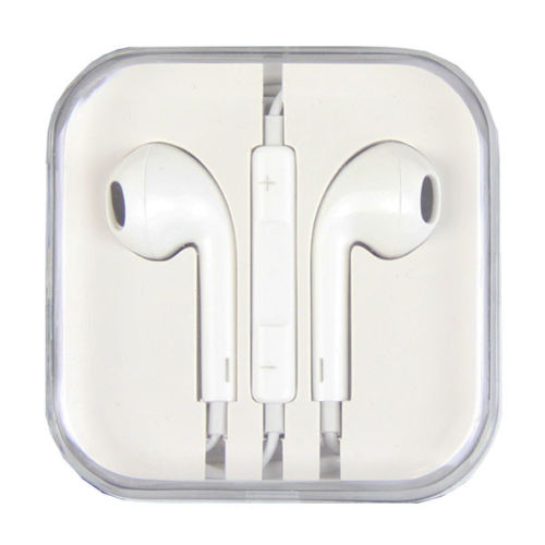 Apple Headphones Earphones Earpods iphones for 4 5 6 w/ remote mic