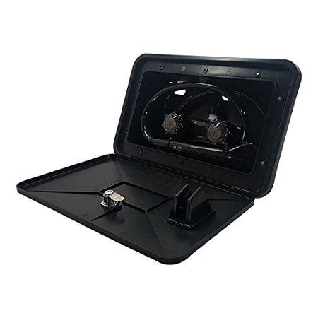 Black RV Exterior Outdoor Shower Box Kit Faucet Hose ...