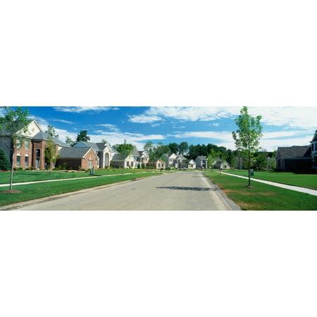 Suburban housing developments Grand Rapids Michigan USA Canvas Art - Panoramic Images (27 x 9) - Halloween Usa Grand Rapids