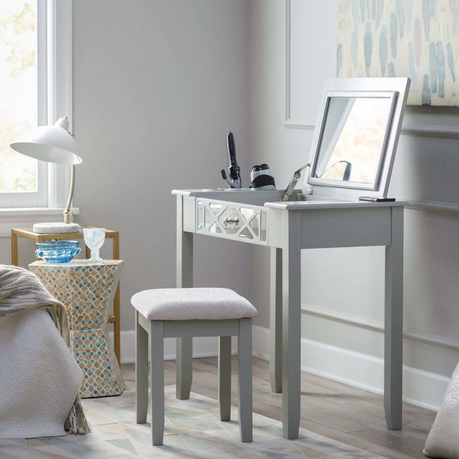 Belham Living Florence Vanity Set - Gray