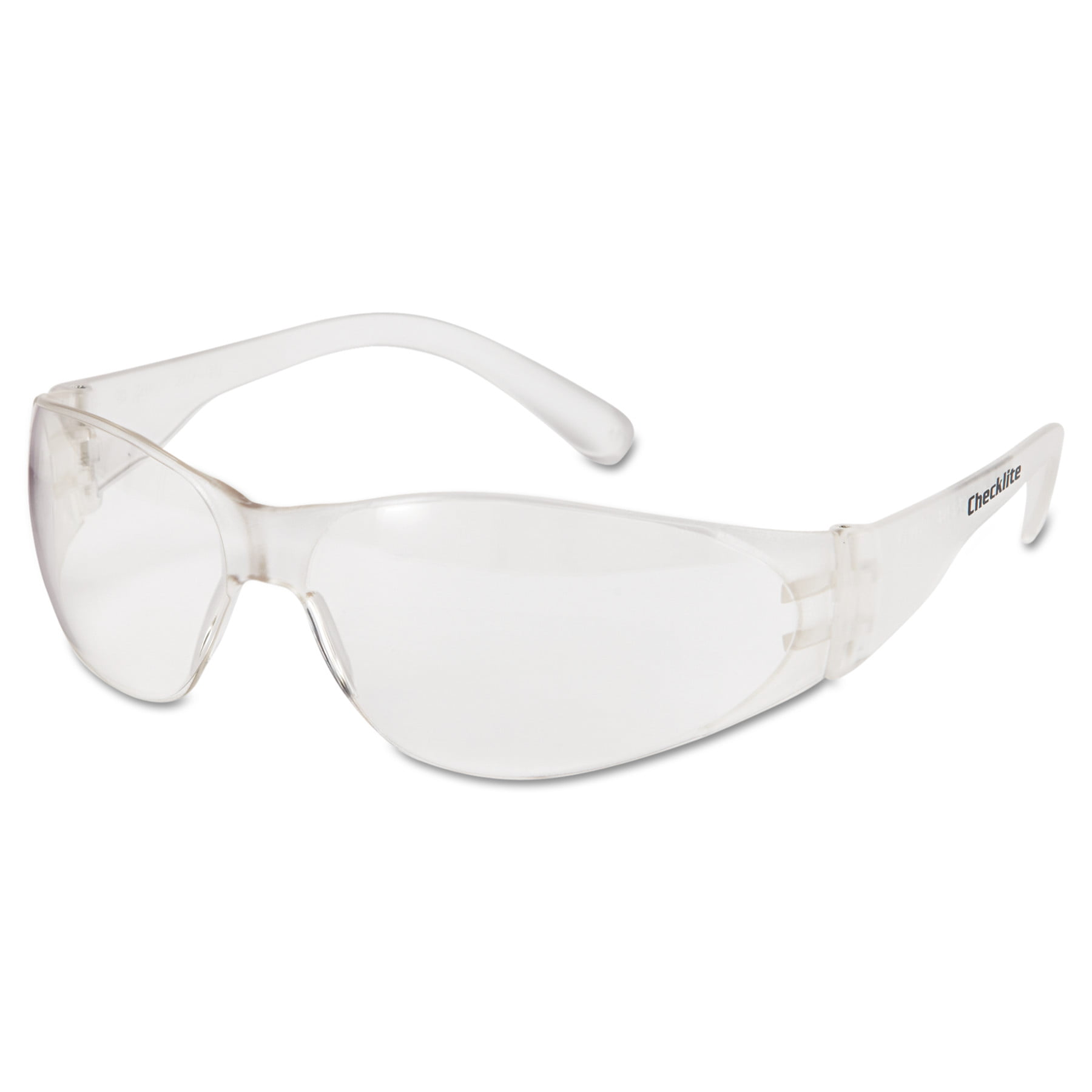 MCR Safety Checklite Safety Glasses, Clear Frame, Clear Lens by MCR SAFETY