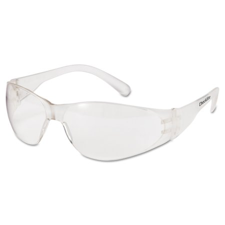 MCR Safety Checklite Safety Glasses, Clear Frame, Clear