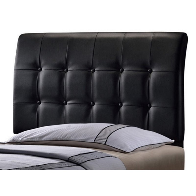 Atlin Designs Tufted Twin Panel Headboard in Black
