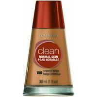 COVERGIRL Clean Liquid Makeup, Creamy Beige, 1 Oz