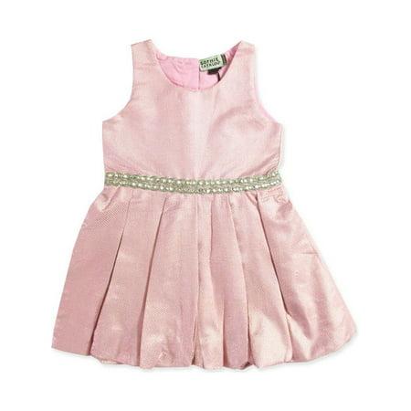 a5d1b658d9e2 Sophie Catalou Little Girls Blush Pink Mini Dot Glitter Flower Girl ...