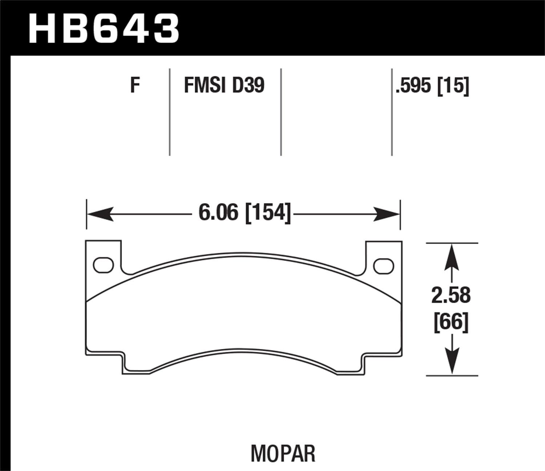 Hawk Performance HB643F.595 Disc Brake Pad