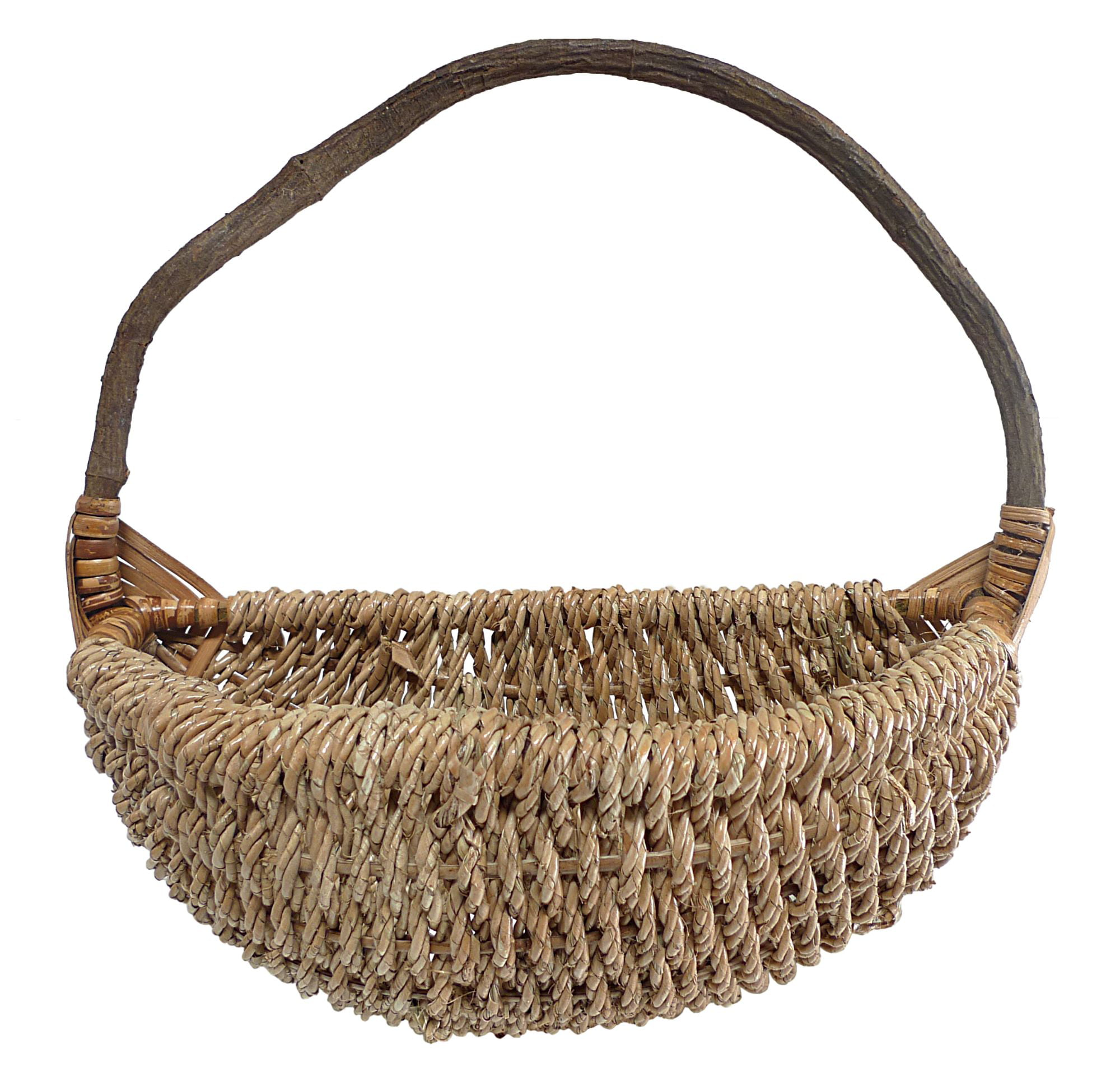 18 Brown Rope Hanging Large Wall Basket With Rear Handle Walmart Com Walmart Com