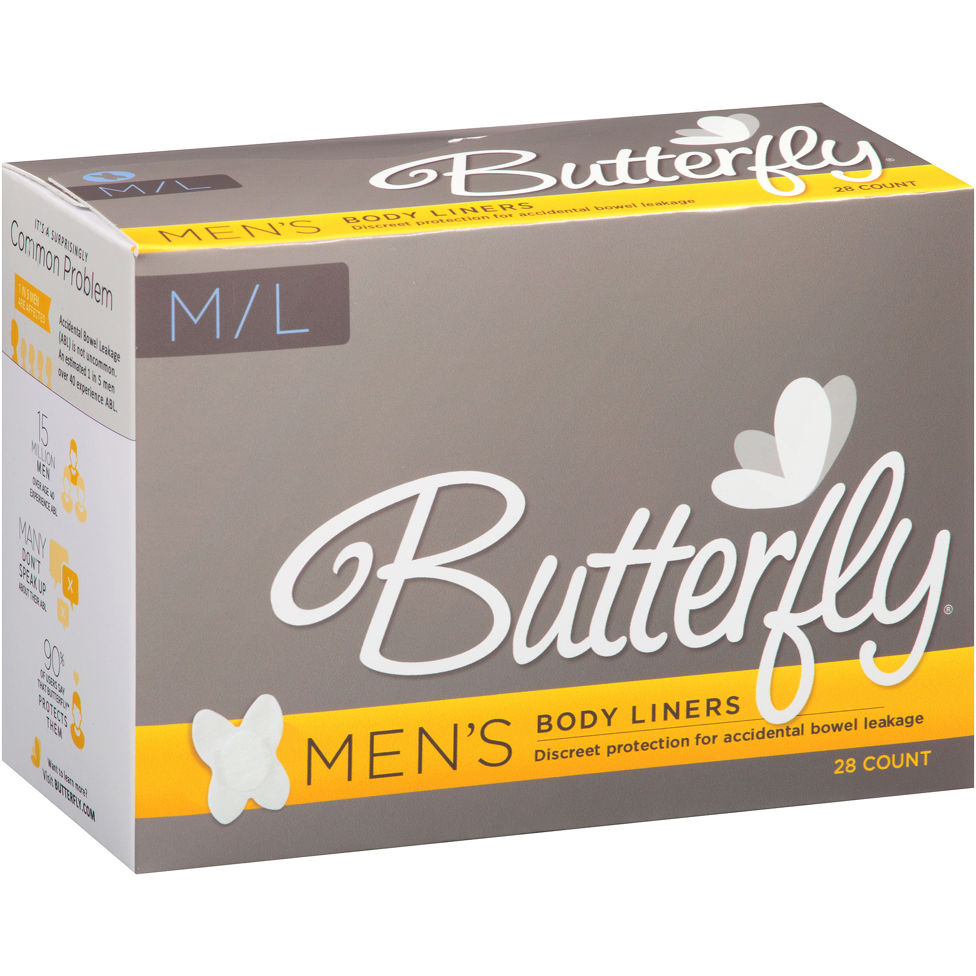 Butterfly Men's Body Liners, Medium/Large, 28 count