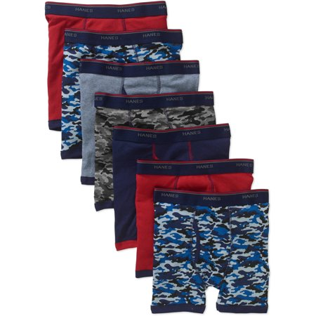 Hanes Boys' Boxer Briefs 6 + 1 Bonus Pack - Colors Vary  S