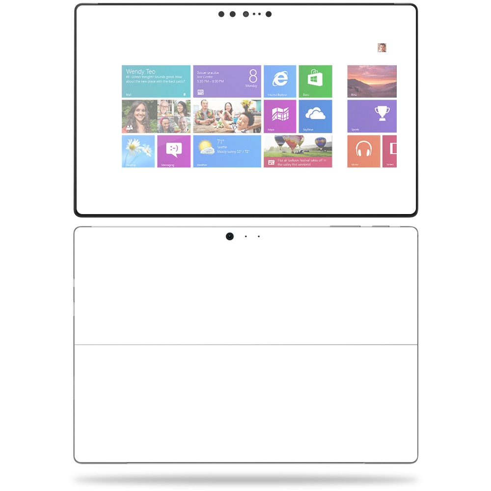Solid White Sticker Decal Surface Pro 4 Skin