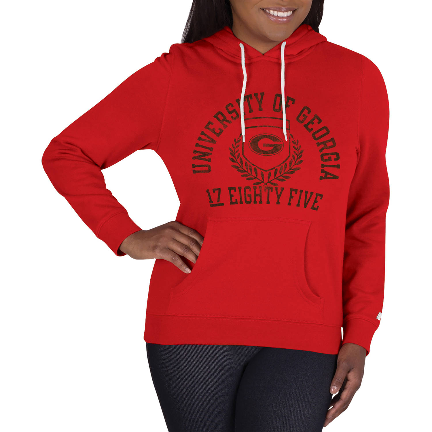 NCAA Georgia Bulldogs Ladies Classic-Fit Pullover Hood
