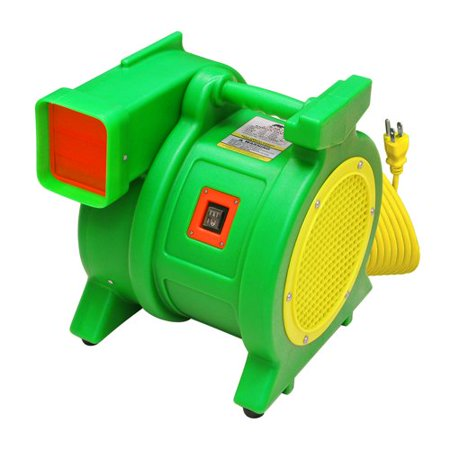 B-AIR Kodiak 1.5 HP ETL Inflatable Bounce House Blower For Large Bounce Houses and Inflatables (Bounce House Green)