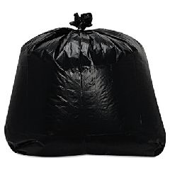 Low-Density Can Liners, 1.6mil, 56gal, 23w x 20d x 47h, Black