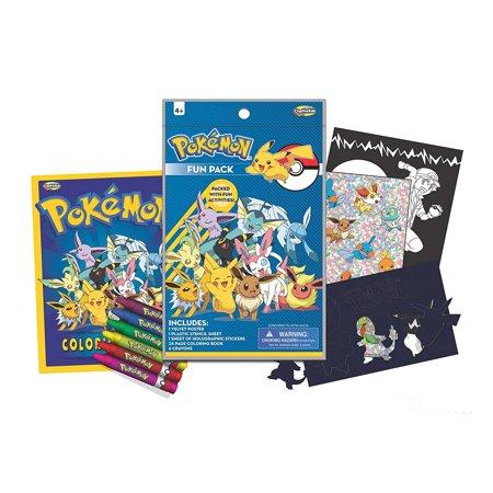 08eed792ec6 Pokemon Creative Fun Pack Art Craft Set - Walmart.com