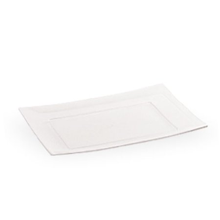 Lillian Dinnerware Plastic Plates, Rectangular, 7