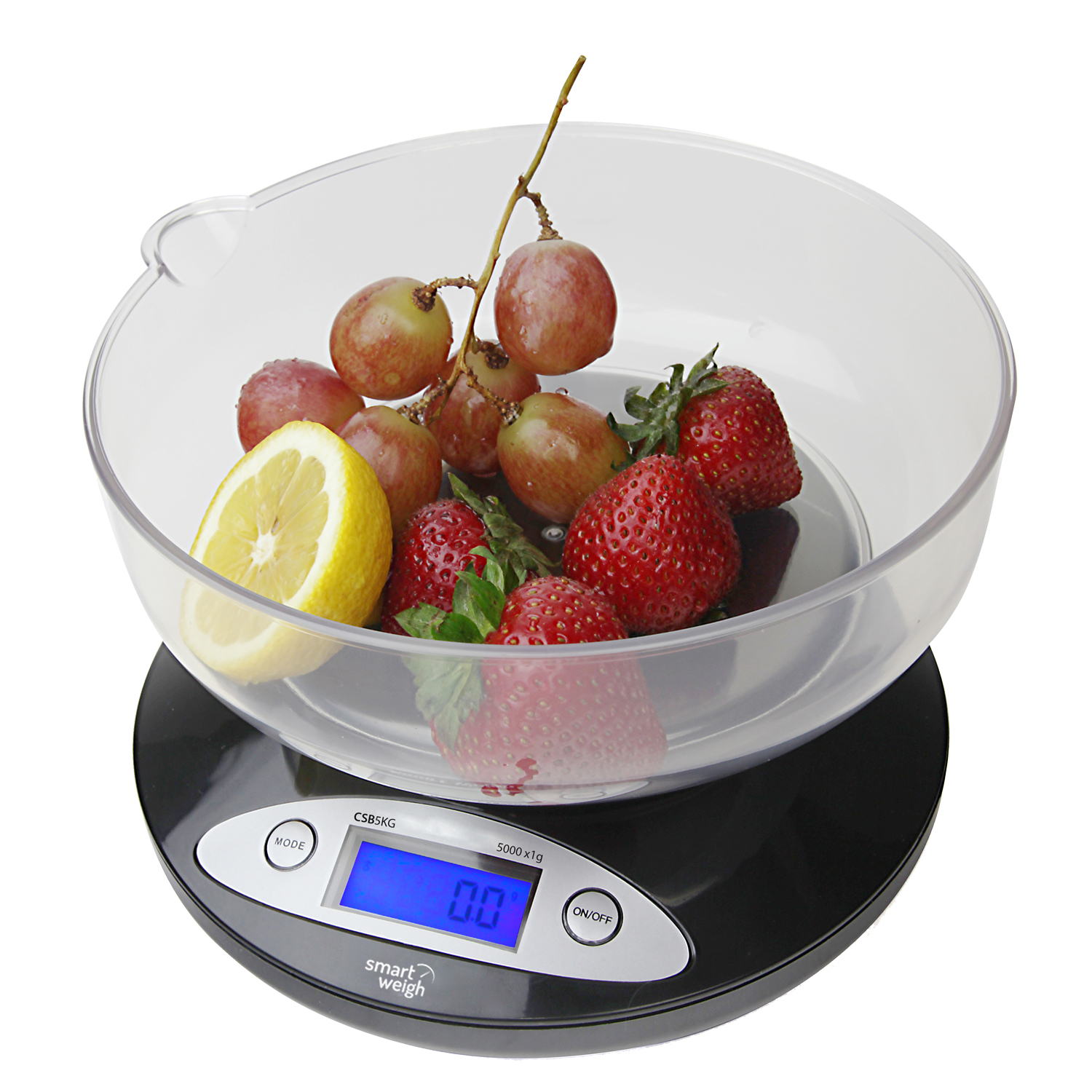 Smart Weigh Kitchen Digital Food Scale for Bake + Diet w/ Bowl 11lbs x 0.1oz