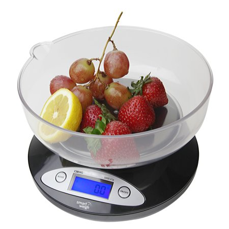 smart weigh kitchen digital food scale for bake diet w bowl 11lbs x