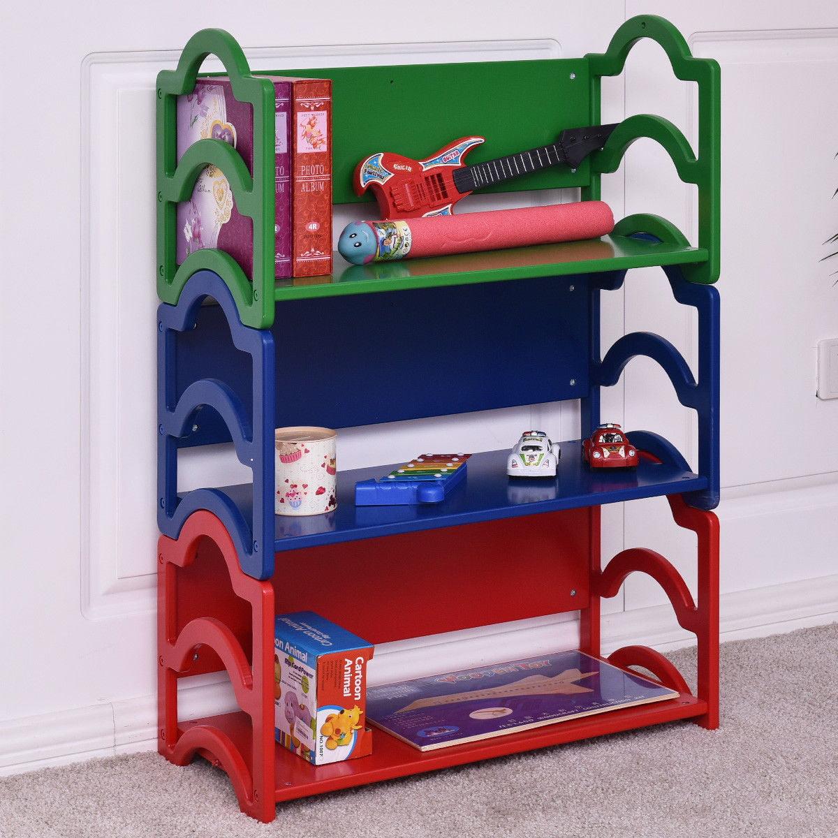 Gymax Kids Book Shelf Storage Rack Organizer Bookcase Display Holder Home Furniture - image 10 of 10
