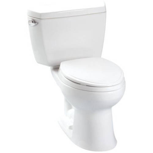 Toto Drake Two Piece Elongated 1.6 GPF Toilet with G-Max Flush System and Insulated Tank, Less Seat, Available in Various Colors