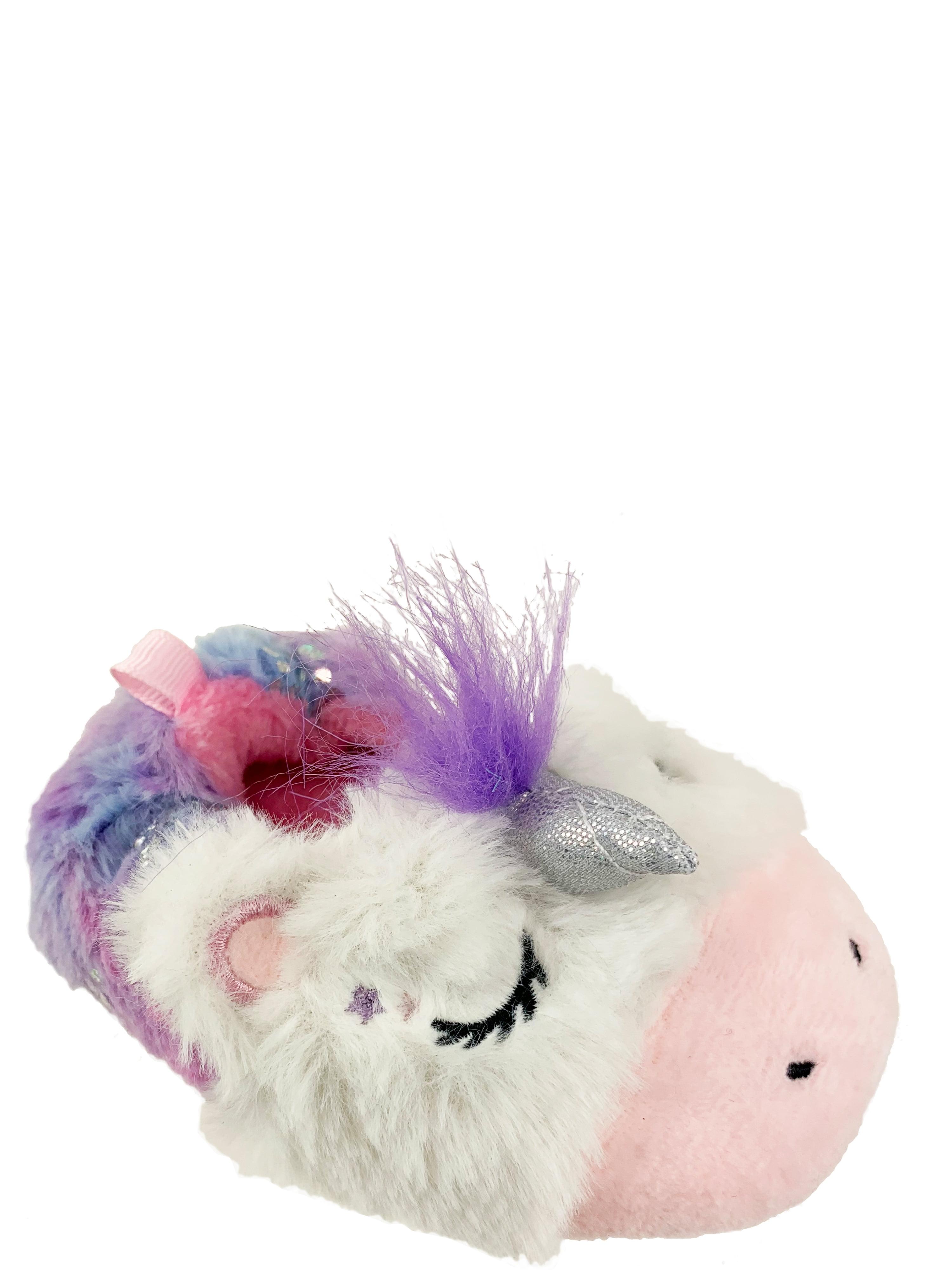 Wonder Nation fille licorne Bootie Arc-en-ciel Unicorn Slipper Taille 4-5 NEUF