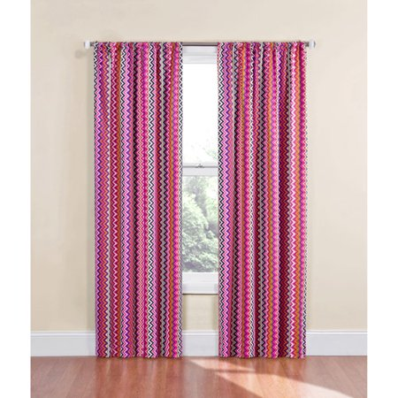 eclipse chevron thermaback girls bedroom curtain panel