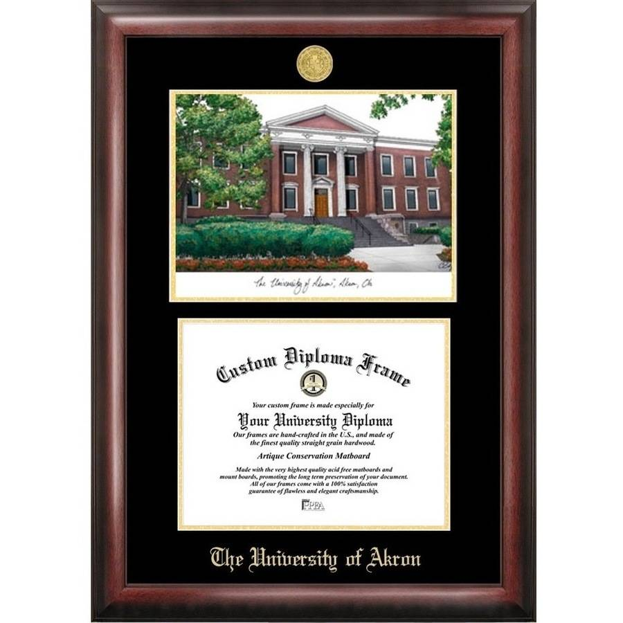 University Of Akron 8 5 Quot X 11 Quot Gold Embossed Diploma Frame