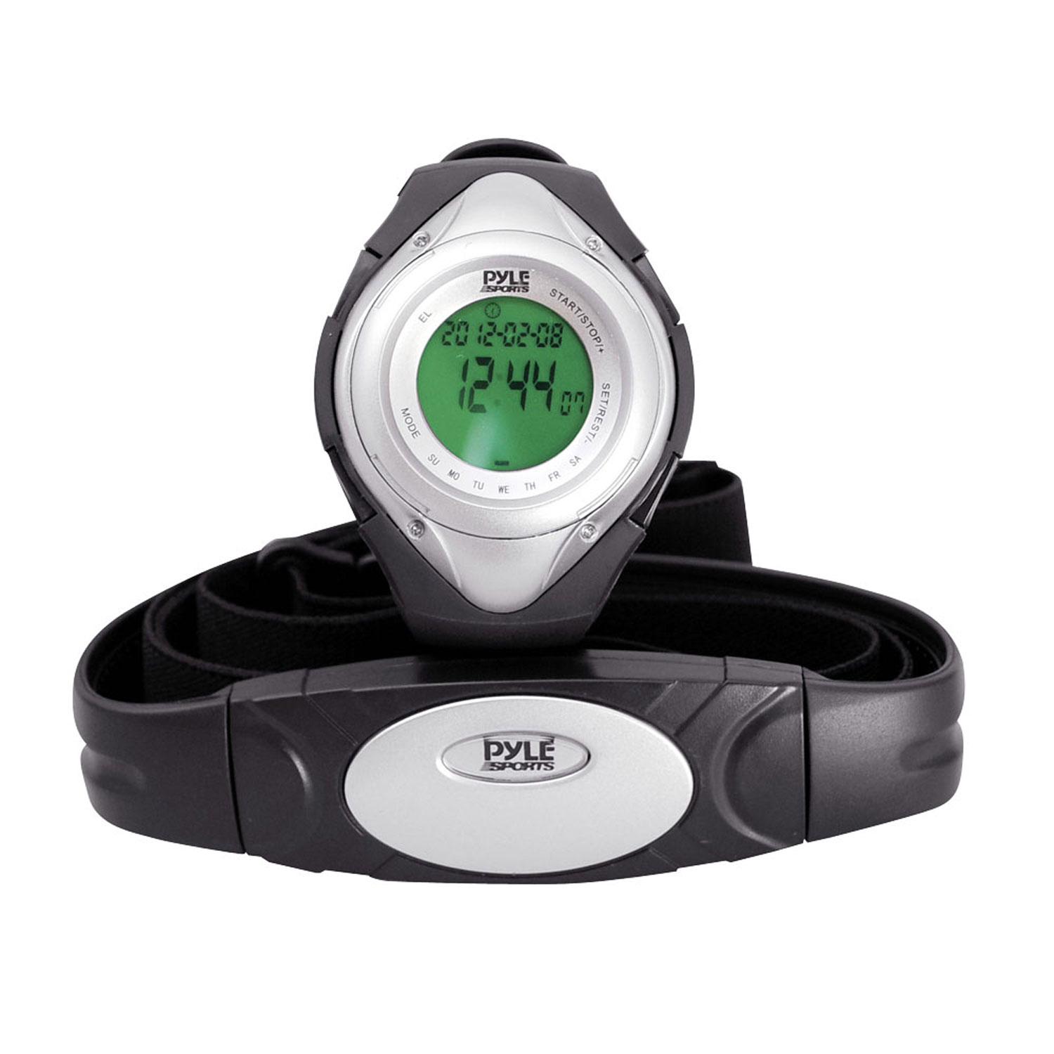 Pyle Heart Rate Monitor Watch W/Minimum, Average Heart Rate, Calorie Counter, and Target Zones(Silver Color)
