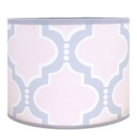 Pam Grace Creations Pink Trellis Lamp Shade