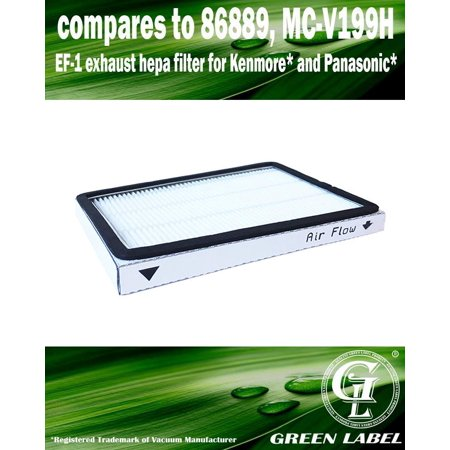Exhaust HEPA Vacuum Filter for Panasonic MC-GG525 (compares to MC-V199H). Genuine Green Label product.