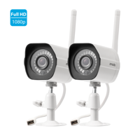 Zmodo Full HD Outdoor Home Wifi Security Surveillance Video Cameras System (2 Pack), Work with Google Assistant