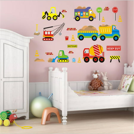 - Removable Transport Truck Digger Car Wall Sticker Art Decal Kids Children Room Nursery Decor