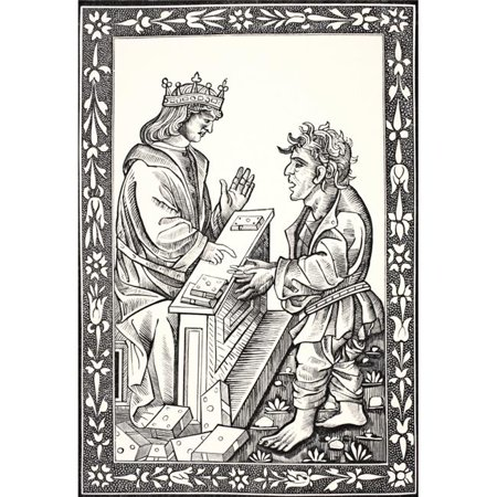 Posterazzi DPI1862861 Solomon & Marcoul Facsimile of A Wood Engraving In The15th Cenutry Edition of the Dictz De Salomon Et Marcoul From S 1 Poster Print, 12 x 17 - image 1 of 1