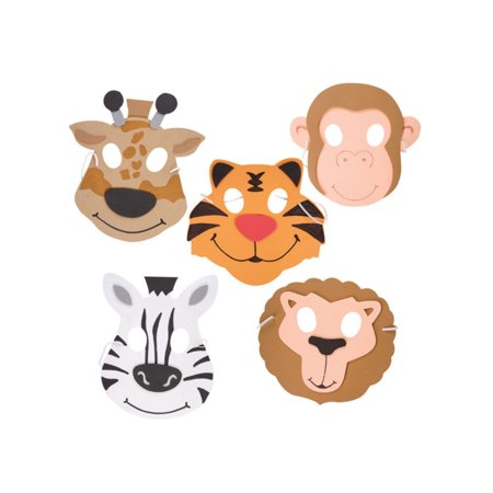 New Halloween Costume Party Foam Zoo Animal Monkey - Halloween Monkey Painted Faces