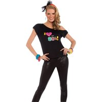 Womens I Love The 80's Shirt Adult Costume