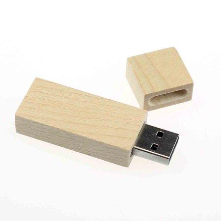 8GB Long Wood High Speed USB2.0 Flash Storage Drive Memory