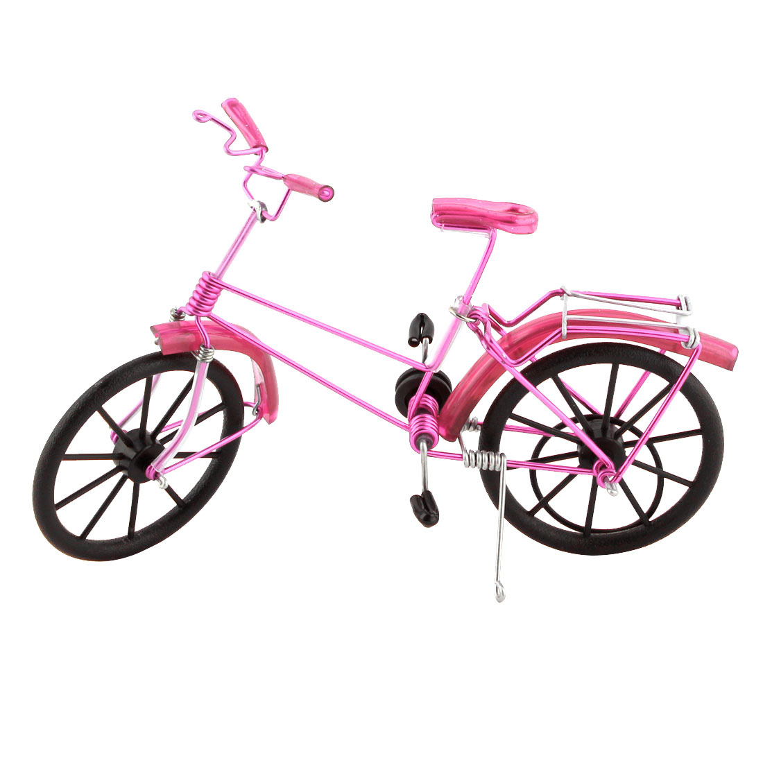 Handmade Craft Table Ornament Collection Figurine Toy Bicycle Model Decor Pink
