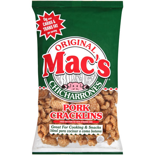 Mac's Original Chicharrones Pork Cracklins, 7.5 oz