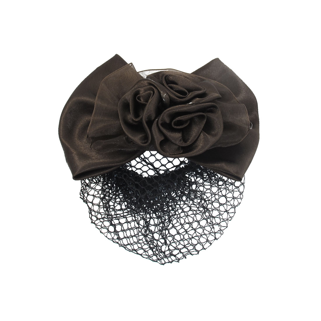 Unique Bargains Charming Coffee Color Flower Design Headdress Hair Band Hairnet