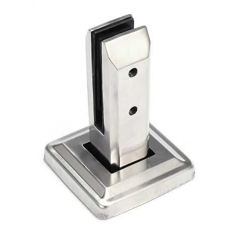 Floor Standing Stairs Balcony Pool Glass Spigots Post Balustrade Railing Clamp, Glass Clamps Brackets Stainless Steel