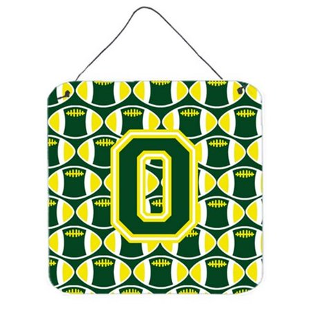 Yellow Letter (Letter O Football Green & Yellow Wall or Door Hanging)