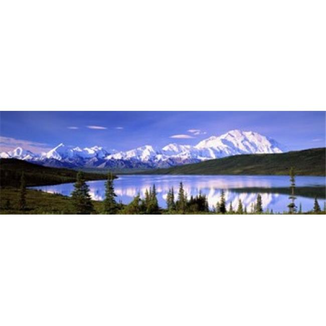 Panoramic Images PPI32387L Snow Covered Mountains  Mountain Range  Wonder Lake  Denali National Park  Alaska  USA Poster Print by Panoramic Images - 36 x 12 - image 1 of 1