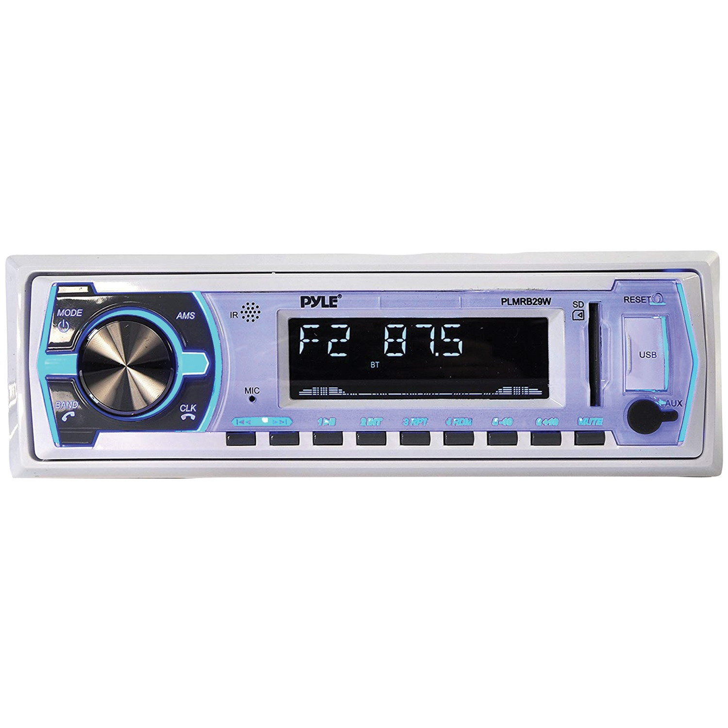 Pyle PLMRB29W Digital Marine Stereo Receiver with Bluetooth (White)