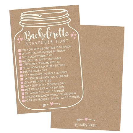 25 Bachelorette Rustic Scavenger Hunt Party Games Girls Night Out Weekend Funny Naughty Cards For Scavenger Hunt, Drinking Dares Fun Novelty Decoration and Supplies Idea For Adult Woman Ladies Parties - Ladies Night Party Ideas