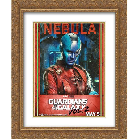 Guardians of the Galaxy Vol. 2 20x24 Double Matted Gold Ornate Framed Movie Poster Art (Guardians Of The Galaxy 2 Gold People)