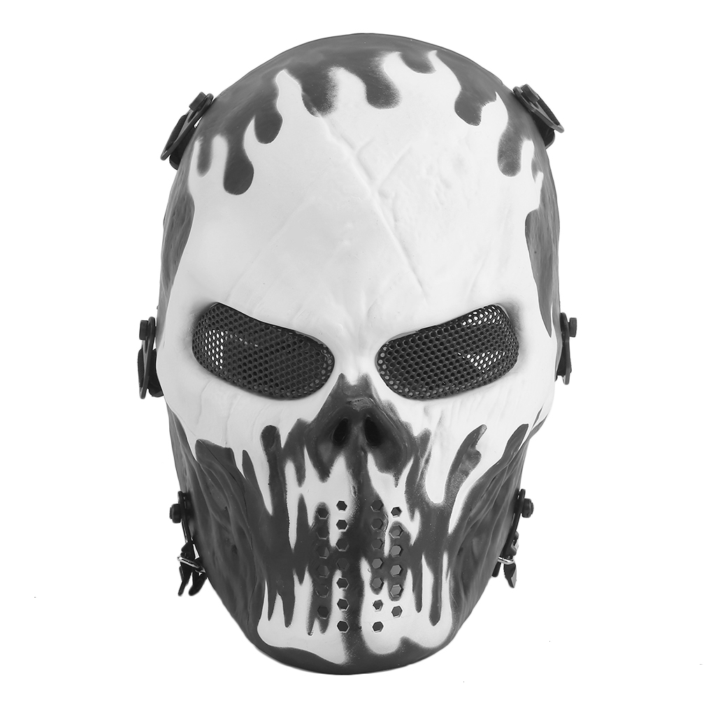 2018 Airsoft Paintball Tactical Full Face Protection Skull Mask Skeleton Army by ORANGE